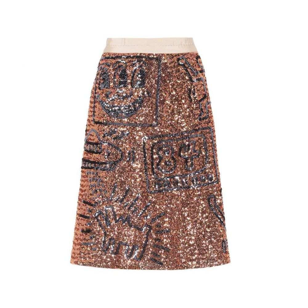 コーチ レディース スカート【X Keith Haring embellished skirt】Pink