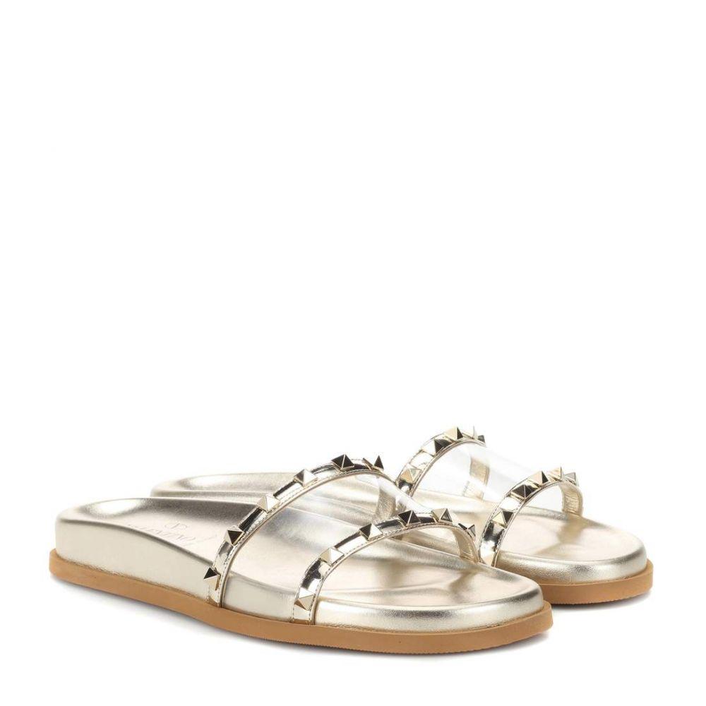 ヴァレンティノ レディース シューズ・靴 サンダル・ミュール【Valentino Garavani Moonwalk embellished slides】Gold