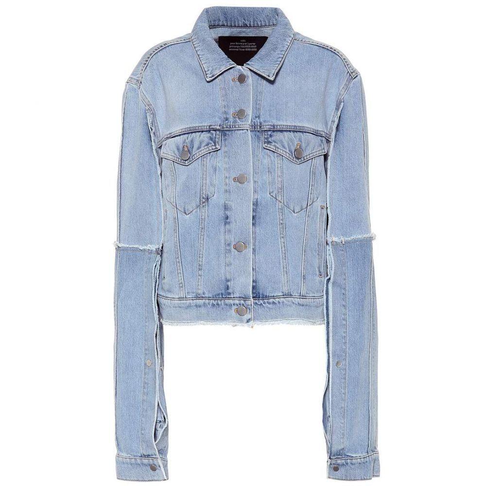 ロック Rokh レディース アウター ジャケット【Denim jacket】light blue