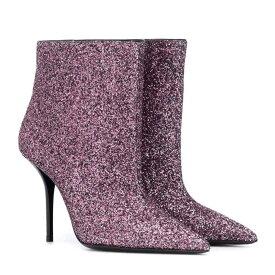 イヴ サンローラン Saint Laurent レディース シューズ・靴 ブーツ【Pierre 95 glitter ankle boots】Rose