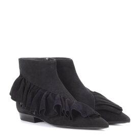 J.W.アンダーソン JW Anderson レディース シューズ・靴 ブーツ【Ruffle suede ankle boots】Black