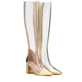 マリアム ナッシアー ザデー Maryam Nassir Zadeh レディース シューズ・靴 ブーツ【Jupiter leather-trimmed boots】Gold