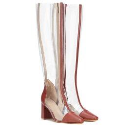 マリアム ナッシアー ザデー Maryam Nassir Zadeh レディース シューズ・靴 ブーツ【Jupiter leather-trimmed boots】Chestnut
