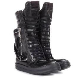 リック オウエンス Rick Owens レディース シューズ・靴 ブーツ【Leather combat boots】Black/Black