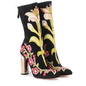 アレキサンダー マックイーン Alexander McQueen レディース シューズ・靴 ブーツ【Embroidered suede ankle boots】Blk / Multi Cockt / Blk