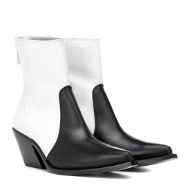 ジバンシー Givenchy レディース シューズ・靴 ブーツ【Leather cowboy boots】White/Black