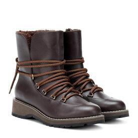 マックスマーラ Max Mara レディース シューズ・靴 ブーツ【Calle leather ankle boots】Dark Brown