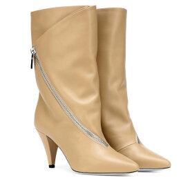 ジバンシー Givenchy レディース シューズ・靴 ブーツ【Zipped leather ankle boots】Beige