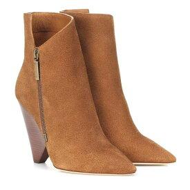 イヴ サンローラン Saint Laurent レディース シューズ・靴 ブーツ【Niki 105 suede ankle boots】Noisette