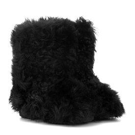 イヴ サンローラン Saint Laurent レディース シューズ・靴 ブーツ【Shearling ankle boots】Noir