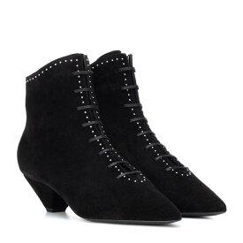 イヴ サンローラン Saint Laurent レディース シューズ・靴 ブーツ【Kate 45 suede ankle boots】Noir