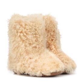 イヴ サンローラン Saint Laurent レディース シューズ・靴 ブーツ【Shearling ankle boots】Cream