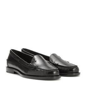 イヴ サンローラン Saint Laurent レディース シューズ・靴 ローファー・オックスフォード【Leather loafers】Nero