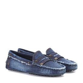 トッズ Tod's レディース シューズ・靴 ローファー・オックスフォード【Gommino denim loafers】Denim Blue