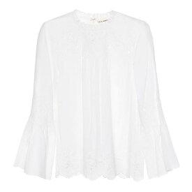 ウラ ジョンソン Ulla Johnson レディース トップス【Halsey cotton and linen top】Blanc