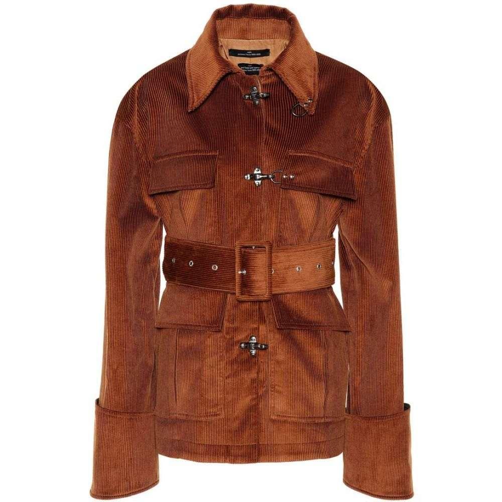 ロック Rokh レディース アウター ジャケット【Belted corduroy jacket】Brown