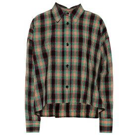 イザベル マラン Isabel Marant レディース トップス ブラウス・シャツ【Macao plaid cotton and linen shirt】Green