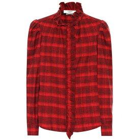 イザベル マラン Isabel Marant, Etoile レディース トップス ブラウス・シャツ【Dules checked cotton shirt】Red