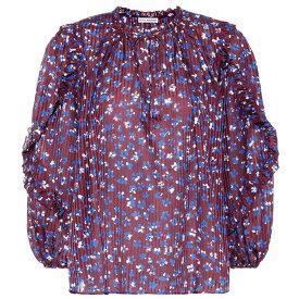 ウラ ジョンソン Ulla Johnson レディース トップス ブラウス・シャツ【Lillian cotton and silk-blend blouse】Burgundy