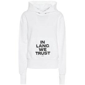 ヘルムート ラング Helmut Lang レディース トップス パーカー【Cotton hoodie】chalk white