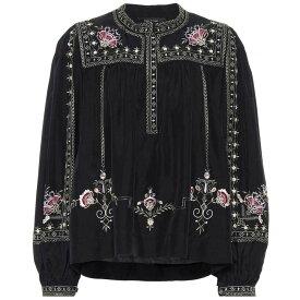 イザベル マラン Isabel Marant レディース トップス ブラウス・シャツ【Dyron embroidered silk blouse】Black