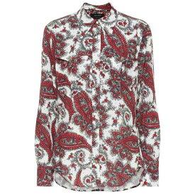 イザベル マラン Isabel Marant レディース トップス ブラウス・シャツ【Tania paisley-printed shirt】white/red