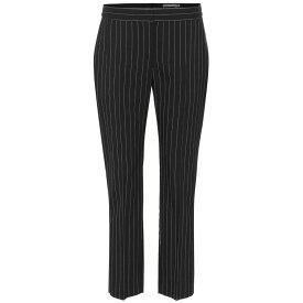 アレキサンダー マックイーン Alexander McQueen レディース ボトムス・パンツ スキニー・スリム【Pinstriped wool-blend pants】Black/White