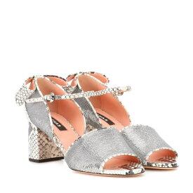 ロシャス Rochas レディース シューズ・靴 サンダル・ミュール【Sequin embellished leather sandals】Silver