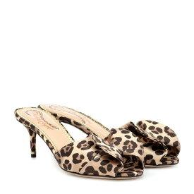 シャーロット オリンピア Charlotte Olympia レディース シューズ・靴 サンダル・ミュール【Satin leopard-printed mules】leopard