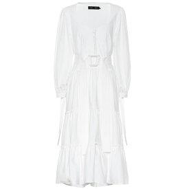 プロエンザ スクーラー Proenza Schouler レディース ワンピース・ドレス ワンピース【Stretch cotton midi dress】White