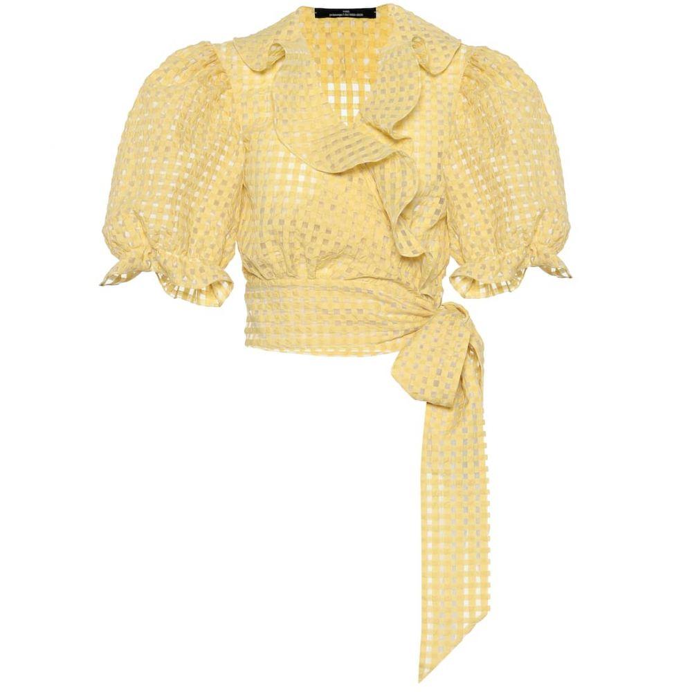 ロック Rokh レディース トップス【Cotton-blend top】yellow gingham