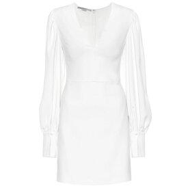 ステラ マッカートニー Stella McCartney レディース ワンピース・ドレス ワンピース【Crepe mini dress】white