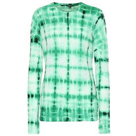 プロエンザ スクーラー Proenza Schouler レディース トップス 長袖Tシャツ【Tie-dye cotton T-shirt】Malachite/White/Blk