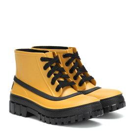 ジバンシー Givenchy レディース シューズ・靴 レインシューズ・長靴【Glaston lace-up rubber rain boots】Golden Green