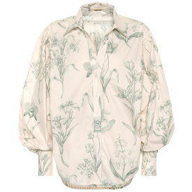 ジョアンナオッティ Johanna Ortiz レディース トップス ブラウス・シャツ【Green Leaving cotton poplin shirt】Eccru Jade