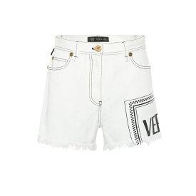 ヴェルサーチ Versace レディース ボトムス・パンツ ショートパンツ【Vintage Logo denim shorts】Ecru