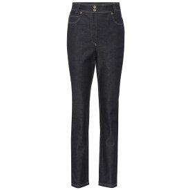 ヴェルサーチ Versace レディース ボトムス・パンツ ジーンズ・デニム【High-waisted slim-fit jeans】Dark Blue