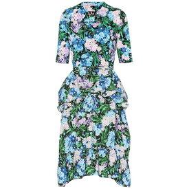 バレンシアガ Balenciaga レディース ワンピース・ドレス ワンピース【Floral peplum dress】Blue/Lilac