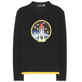 コーチ Coach レディース トップス ニット・セーター【Rocket Shuttle embellished wool sweater】Black/Yellow