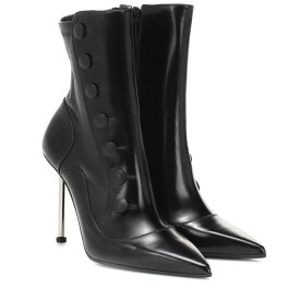 アレキサンダー マックイーン Alexander McQueen レディース シューズ・靴 ブーツ【Victorian leather ankle boots】Blk Blk Blk Silver