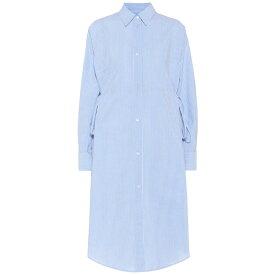 メゾン マルジェラ MM6 Maison Margiela レディース ワンピース・ドレス ワンピース【Striped cotton shirt dress】blue