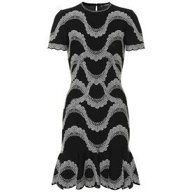 アレキサンダー マックイーン Alexander McQueen レディース ワンピース・ドレス ワンピース【Jacquard knit minidress】Black/Ivory