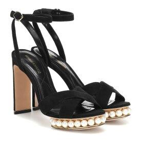 ニコラス カークウッド Nicholas Kirkwood レディース シューズ・靴 サンダル・ミュール【Casati faux pearl-embellished sandals】Black