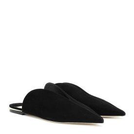 ジミー チュウ Jimmy Choo レディース シューズ・靴 スリッパ【Tahla Flat suede slippers】black