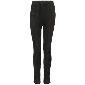 バルマン Balmain レディース ボトムス・パンツ スキニー・スリム【Suede skinny trousers】Black