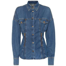 ヴェルサーチ Versace レディース トップス ブラウス・シャツ【Denim shirt】Azzurro