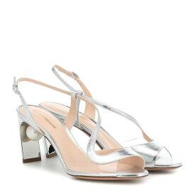 ニコラス カークウッド Nicholas Kirkwood レディース シューズ・靴 サンダル・ミュール【Maeva Pearl 70mm leather sandals】Silver
