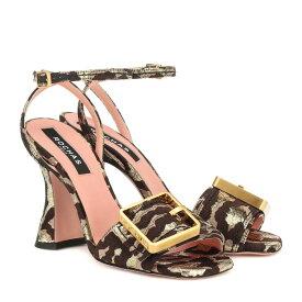 ロシャス Rochas レディース シューズ・靴 サンダル・ミュール【Leopard-brocade sandals】Broccato Leo