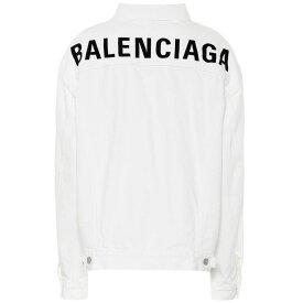 バレンシアガ Balenciaga レディース アウター ジャケット【Logo oversized denim jacket】Stonewash White