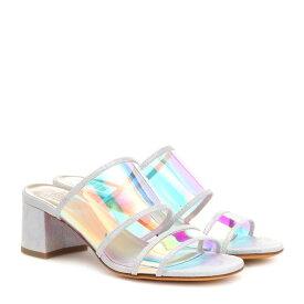 マリアム ナッシアー ザデー Maryam Nassir Zadeh レディース シューズ・靴 サンダル・ミュール【Martina leather-trimmed sandals】celestial